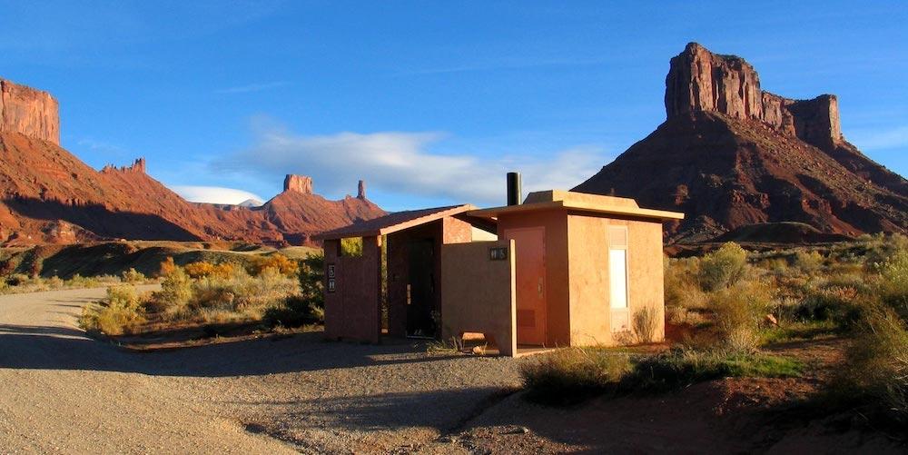 A beautiful toilet at the beautiful Rocky Rapid Recreation Area, Utah.  Photograph Todd Petersen