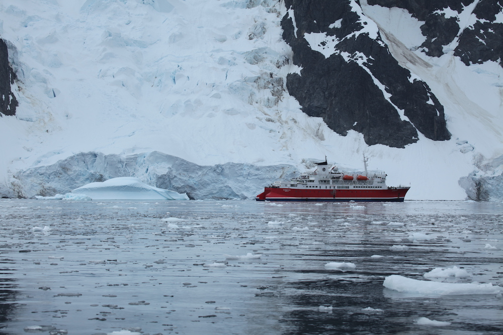 M/S Expedition at Pléneau Bay, Antarctica, photograph  Liam Quinn