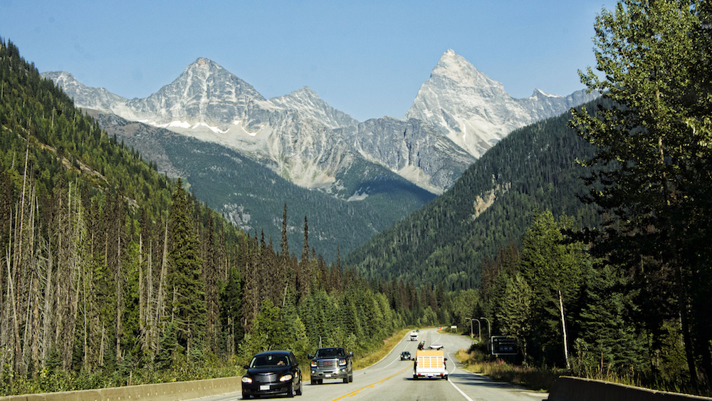 Entering Glacier National Park on the Trans-Canada Highway. Photograph  Mariano Mantel