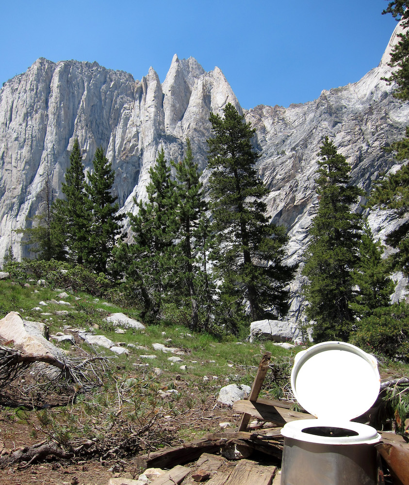 A loo with a view of the Angel Wings rock wall in Sequoia National Park. Photograph  Miguel Vieira