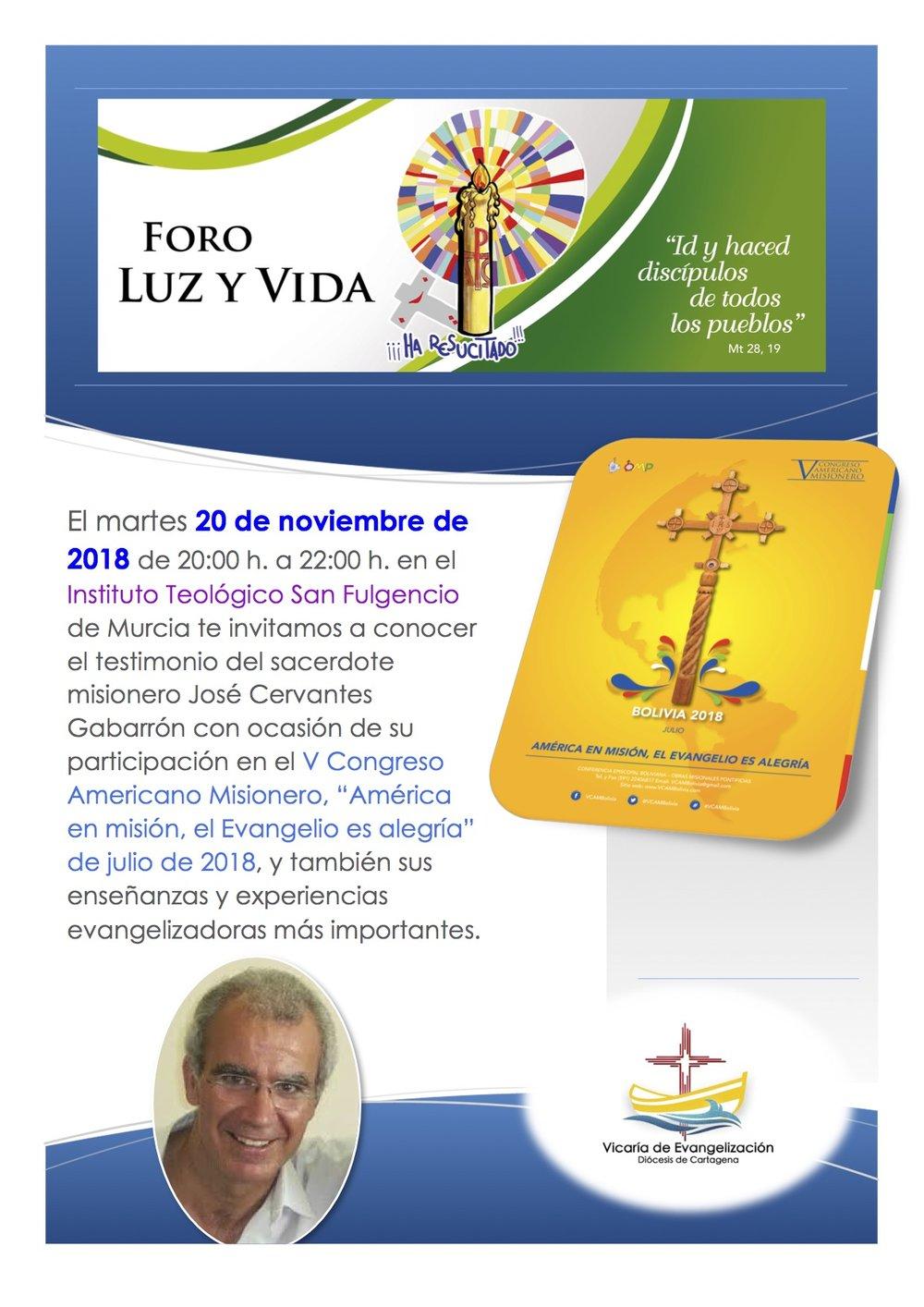 VE Foro Luz y vida, noviembre 2018.jpg
