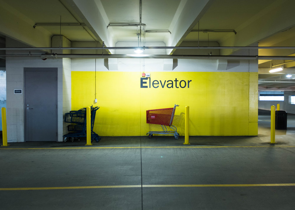 Target parking garage. Charlotte, NC 2018