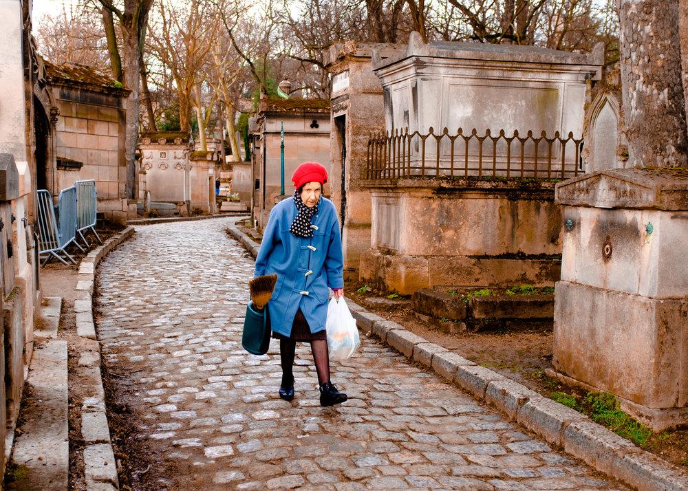 Cemetary Maid. Cimitiere du Pere-Lachaise, Paris, France 2018
