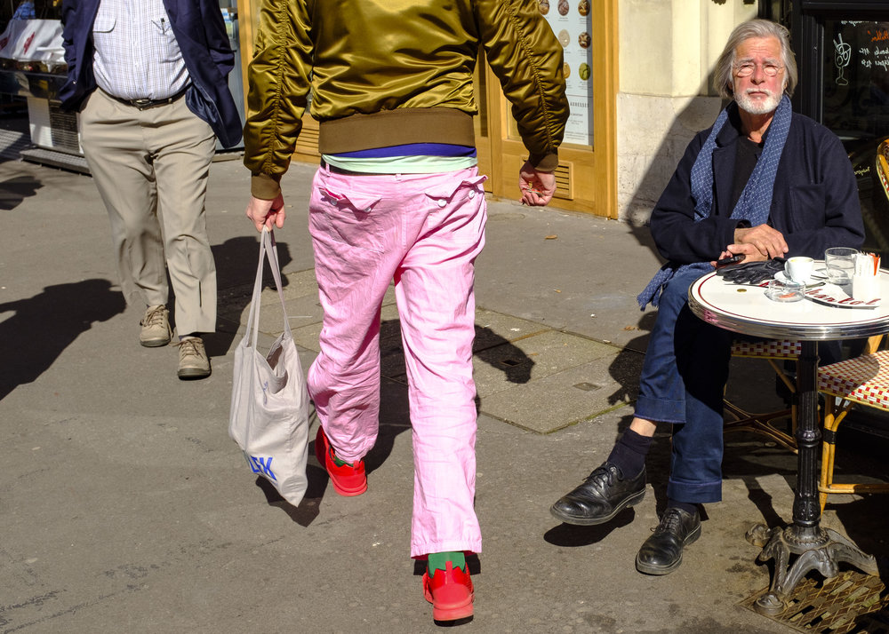 Pink pants. Paris, France 2018