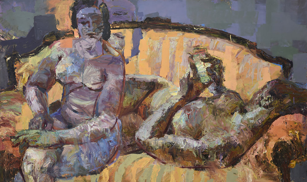 Friday , 150 x 250 cm, Oil on dibond plate, 2016.
