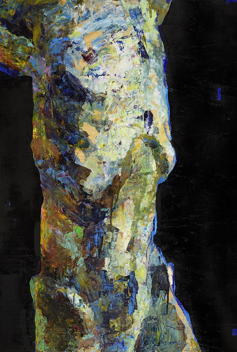 Torso I , 120 x 70 cm, Oil on wood, 2017.