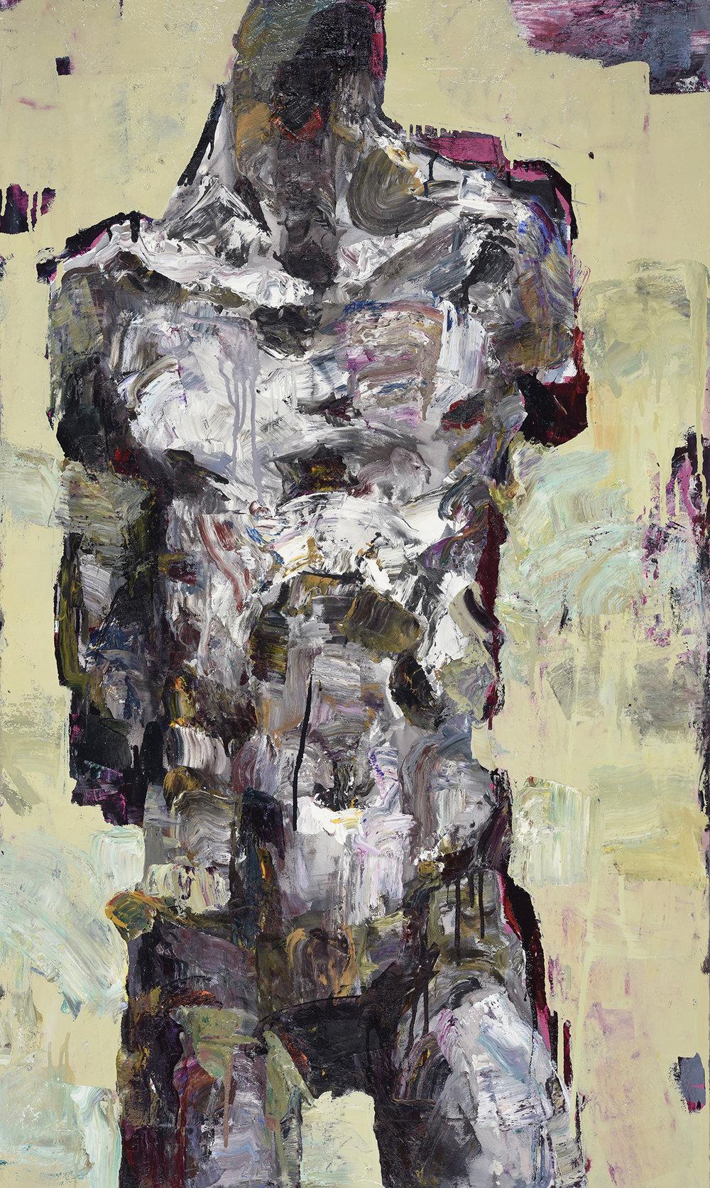 Torso , 155 x 93, Oil on canvas, 2017.