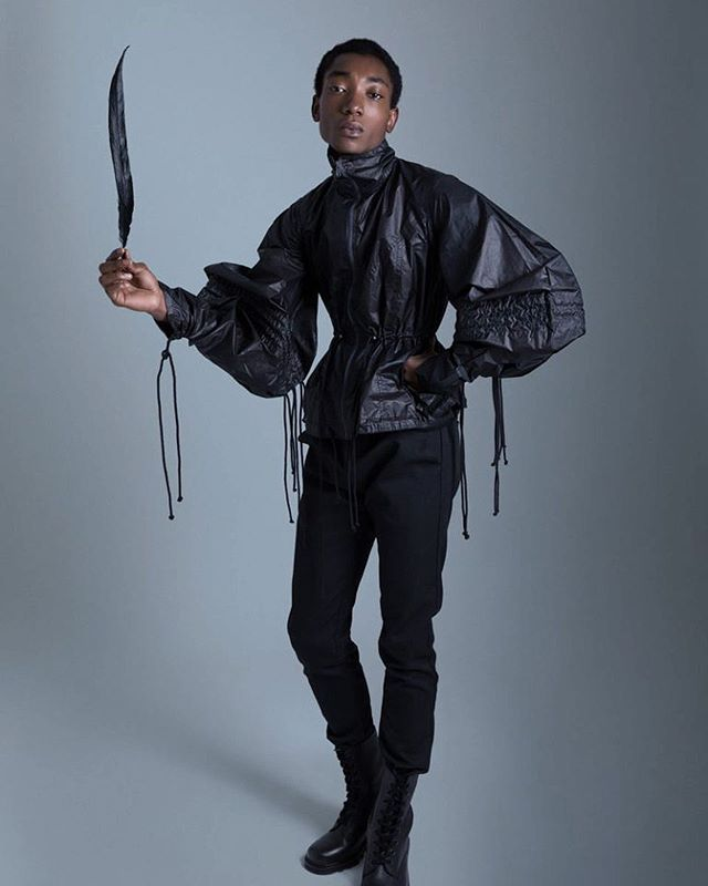 Today in @fuuuckingyoung Luis Ndong wearing Óbolo's Jacket. Photographed and styled by @mr_morante , for the latest issue of @rainmagazine_  #styling #fashiongirl #fashionmen #fashionshow #unisex #fashionweek #malemodel #fuckingyoung #campaign #collection #corporate #modahombre #modamujer #menstyle #madrid #sevilla #girls #garhestudio #garhésstudio #eticfashion #fashionlabel #spanishlabel #spain #fallwinter #teenagerdracula #nyfw #central #desing #fashiondesign  #styling