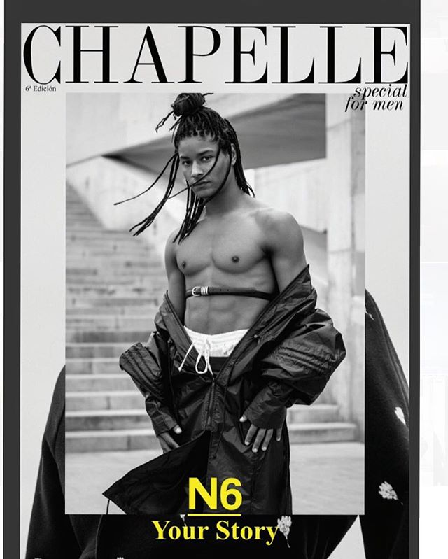 New Cover and Editorial in @chapellemagazine special for men. @xaviersalvat wearing Obolo's long jacket #garhésstudio #garhestudio #collection #spain #chapelle #magazine #editorial #cover #portada #fashion #fashiondesign #menswear #womensstyle #unisex #queer #pride #sevilla #madrid #barcelona