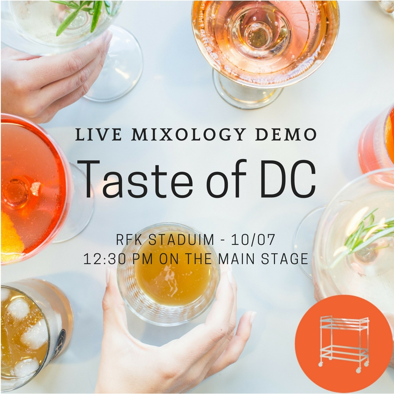 Live Mixology Demo at Taste of DC 2017