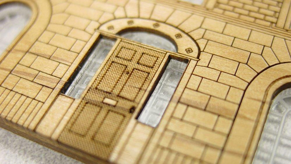 Laser cut wood model