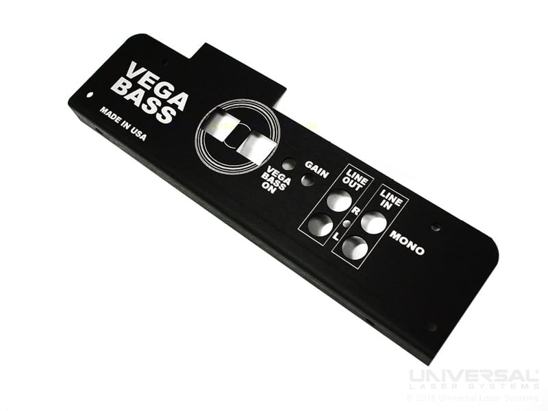 metals anodised aluminium laser marking black instrument panel with a 10.6 micron co2 laser