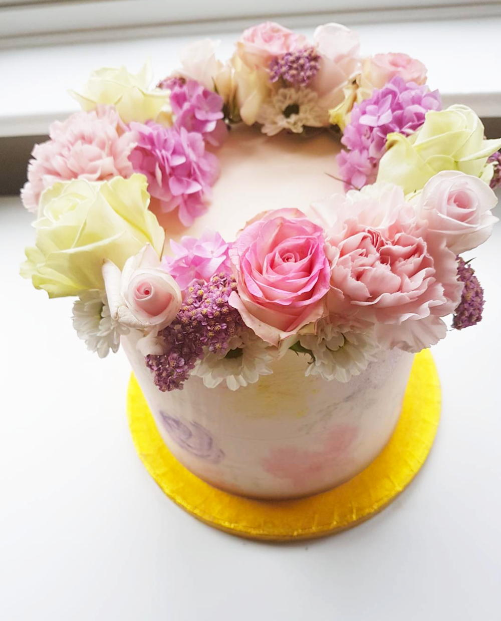 DOTTY ROSE CAKE DESIGN WATERCOLOUR FLORAL BIRTHDAY CAKE.png