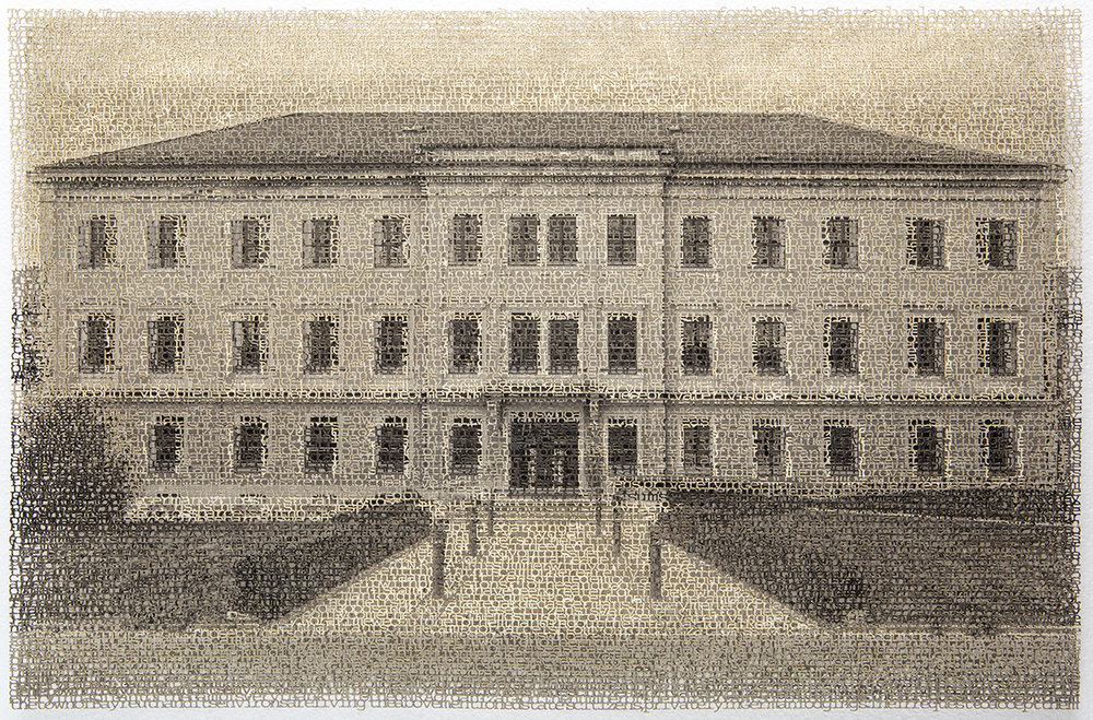 Bayreuth 1, 14x21 inches, layered laser cut pigment prints