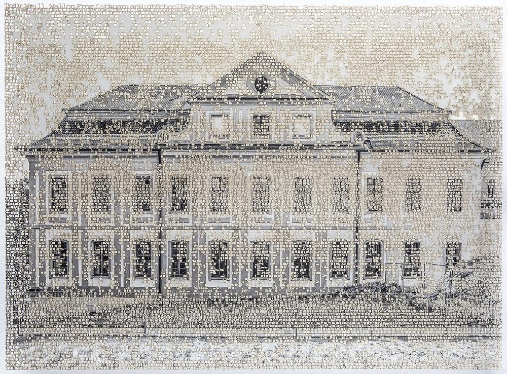 Eichstatt 3, 15x21 inches, laser cut pigment print