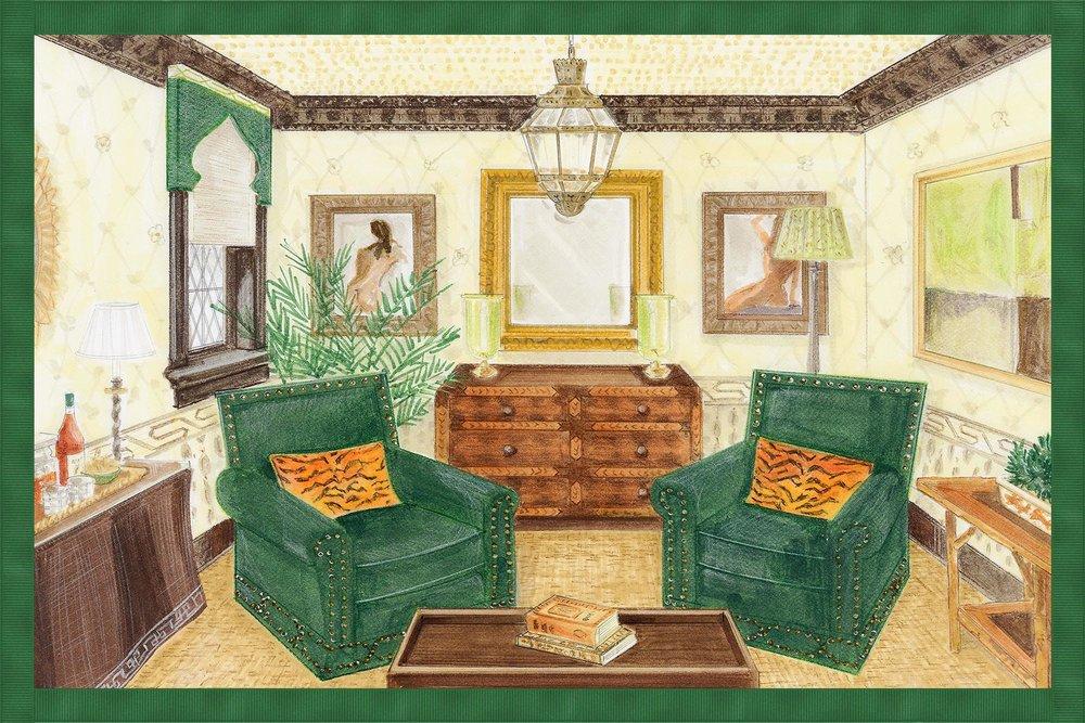 Stylish living room design plan