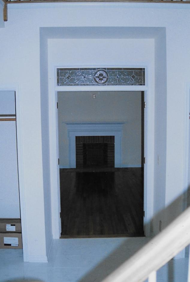 Door through fireplace