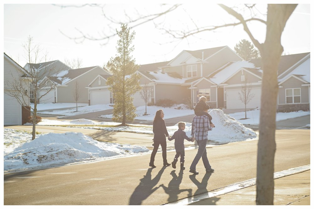 My family making the most of the sun in a Michigan winter.