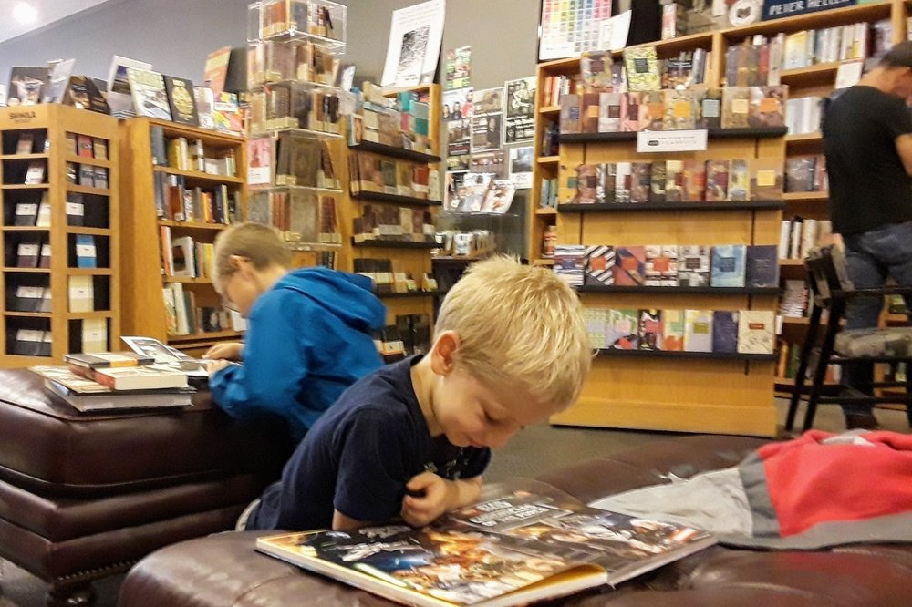 Nothing beats family time at the book store! (at Brilliant Books in Traverse City)