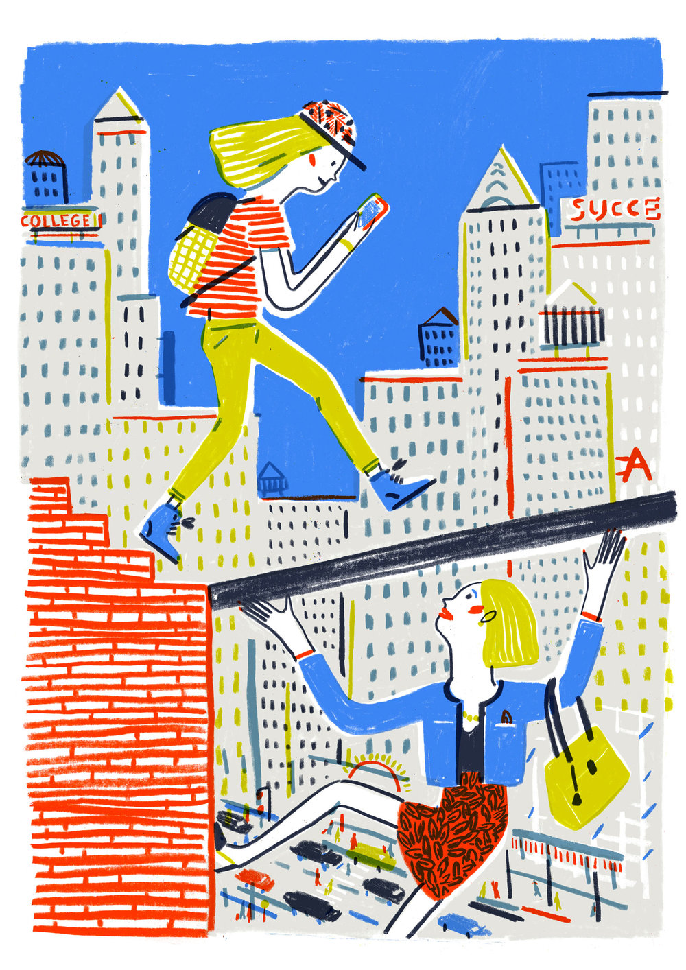 The Terrible Teens  What's wrong with them?   illustration for  The New Yorker , A Critic at Large section, August 31, 2015 Issue