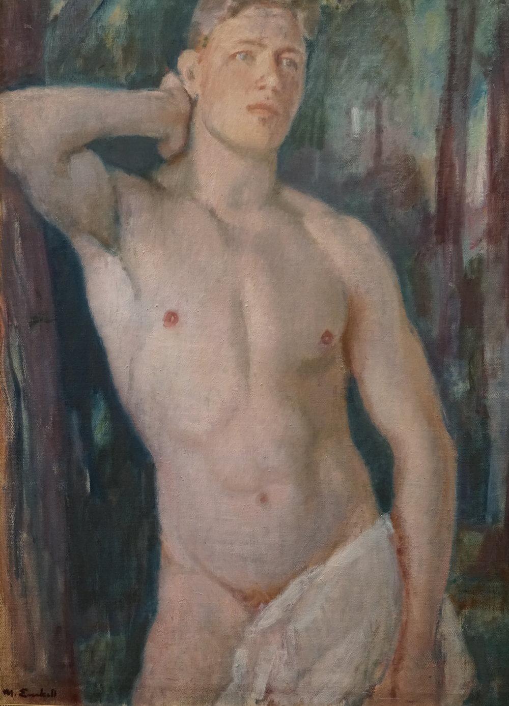 Queer-opastuksilla - Kirpilän taidekokoelman teoksia tarkastellaan uusista, hetero-normatiivisia perinteitä rikkovista näkökulmista. Sateenkaaren väriseen luentaan opastuksilla johdattelee FM Karoliina Arola.Seuraava queer-opastus 6.5.2018 klo 14.30.NUORI ALASTON MIES      Magnus Enckell, 1920-luku