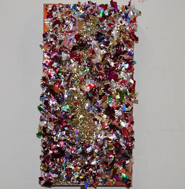 "Celebration 12x9"" Confetti and Glitter on Panel"
