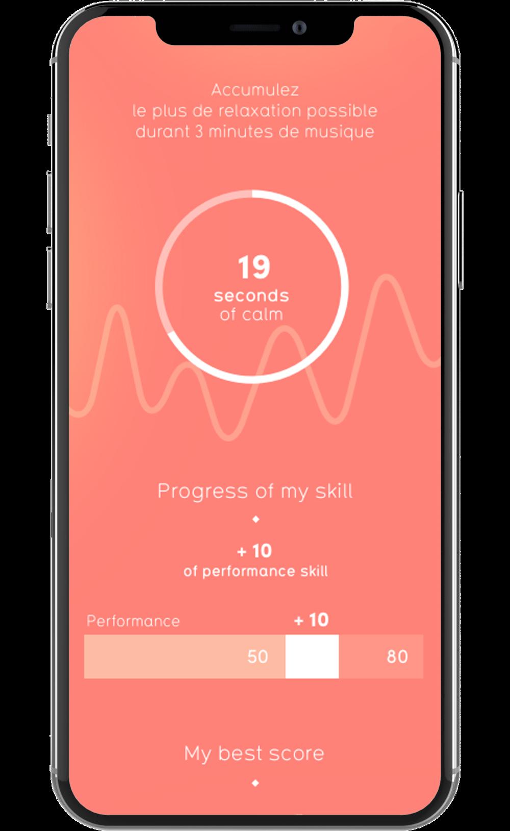 Bilans des résultats et analytics de l'application de coaching Melomind