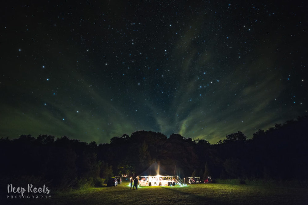Dancing the night away under the stars