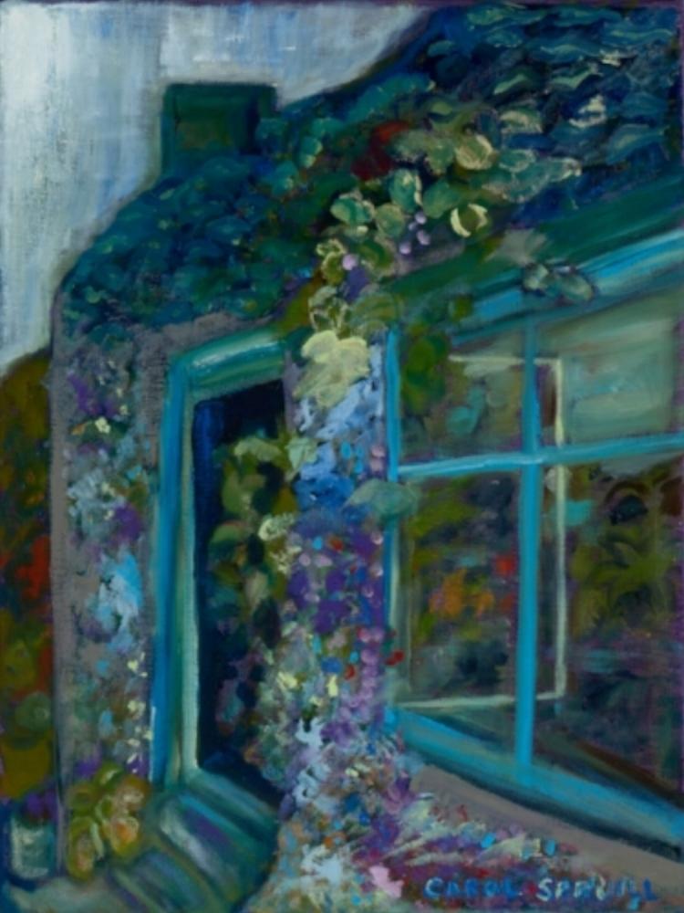 """Irish Greenhouse,"" 12 x 16, Oil on canvas (2016)"