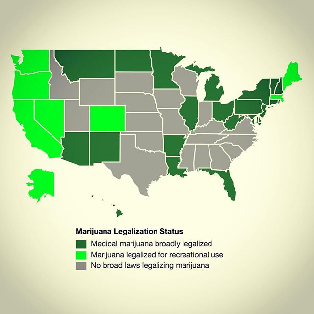 Closin' in on ya there ol' Jeffy! Source: http://www.governing.com/gov-data/state-marijuana-laws-map-medical-recreational.html #mmj #jeffsesh