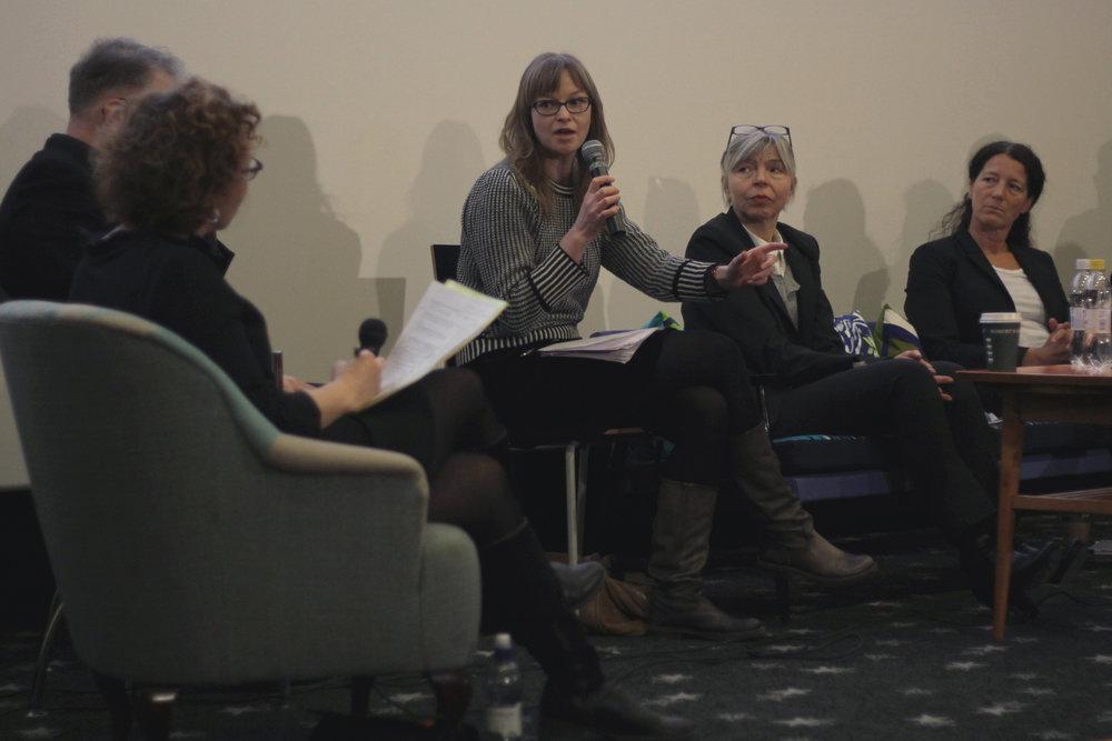 Silje Riise Næss toimii tuotantoneuvojana Norjan elokuvainstituutissa. Kuva: Jenni Koski.