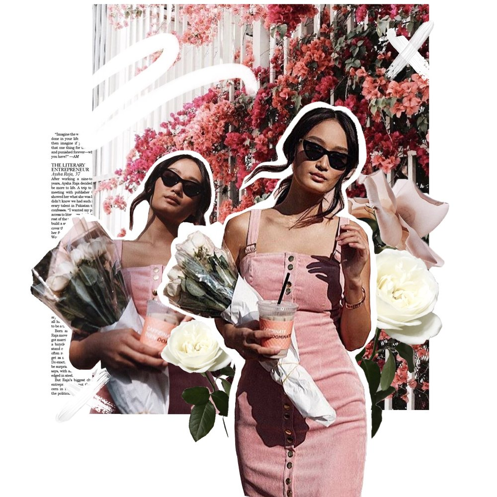 Graphic collage for  @prettyfrowns