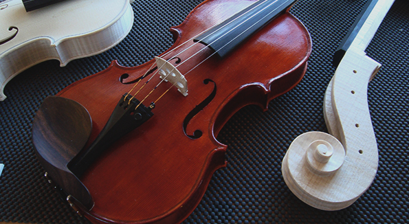 Violin maker Ewen MacLaine