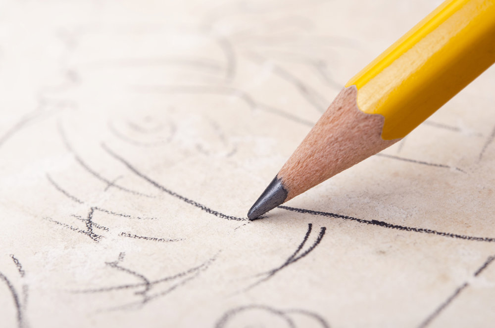 Pencil Sketch Logo Sketching  The Logo Design Process - Wallfrog Marketing Agency