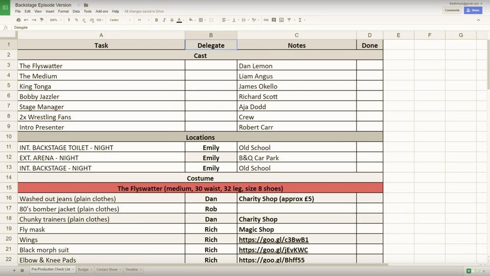 Excel - Breaking down your script