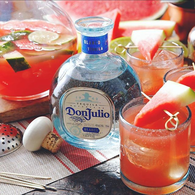 I've been drinkin', watermelon #5days #margaritarumble #donjulio #onewinningmargarita