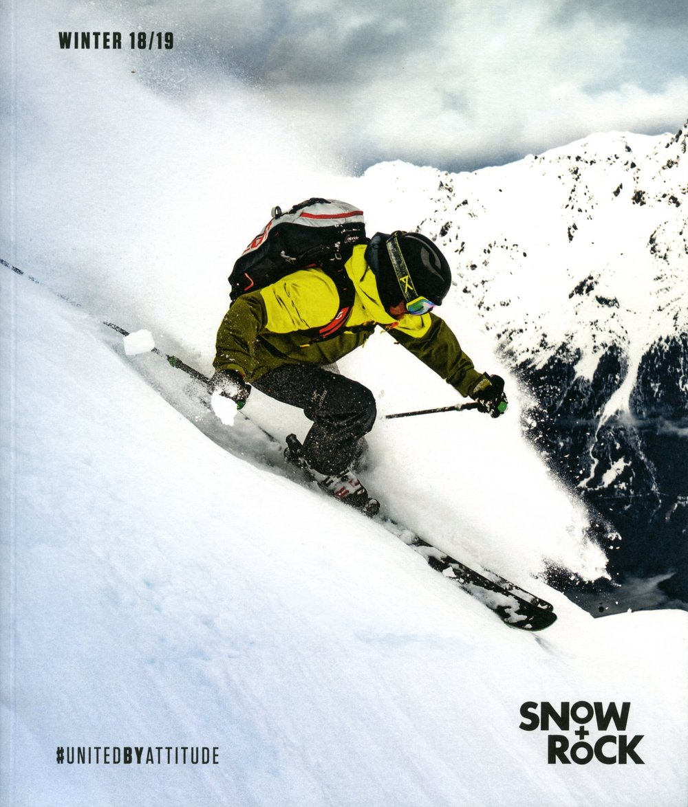 Snow+rock - Catalogues can be pretty boring. You flick through a couple of times before tossing into the recycling. But what if you took a more editorial approach, creating something that felt more like a magazine, with incredible photography and inspirational texts to get you stoked about winter? That was the thinking behind Snow+Rock's 2018-19 catalogue. For the text, they needed someone who could bring the brand's tone of voice to life and inject some inspiration into their winter range. Job done!