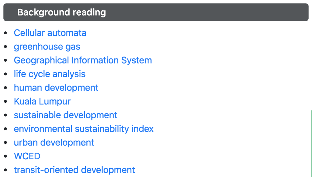 Background reading list generated by Scholarcy AI