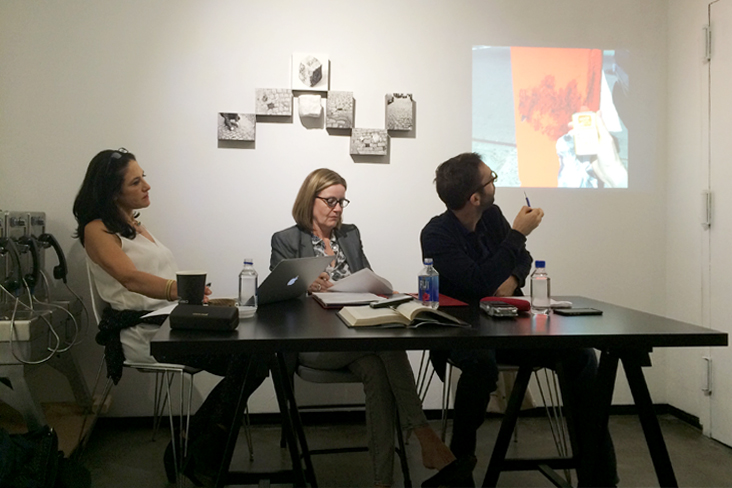 """Why Public Art?"", 2015  read on 09/21/15 during a panel discussion with Ann Fenterstock and Manon Slome  (click on image for text)  * * *"