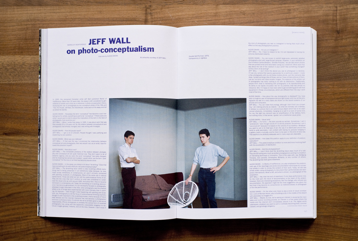 Alexis Dahan interviews Jeff Wall in Purple Magazine #25  (click on image for text)  * * *