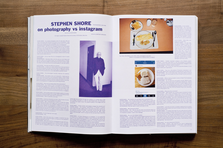 Alexis Dahan interviews Stephen Shore in Purple Magazine #24  (click on image for text)  * * *