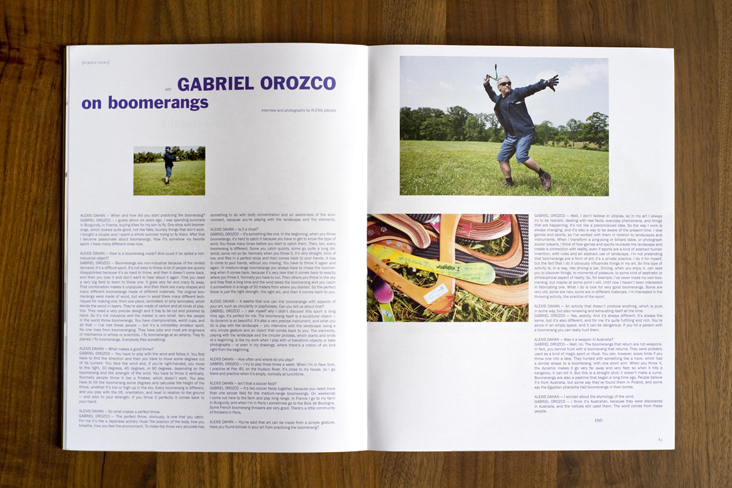 Alexis Dahan interviews Gabriel Orozco in Purple Magazine #20  (click on image for text)  * * *
