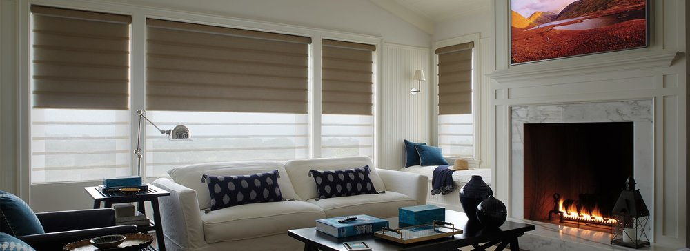 Modern Roman Shades Vignette In Leela Escape