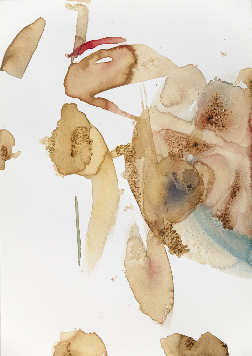 coffee variations, 2015 | ink, watercolours and coffee on paper, 25x18 cm