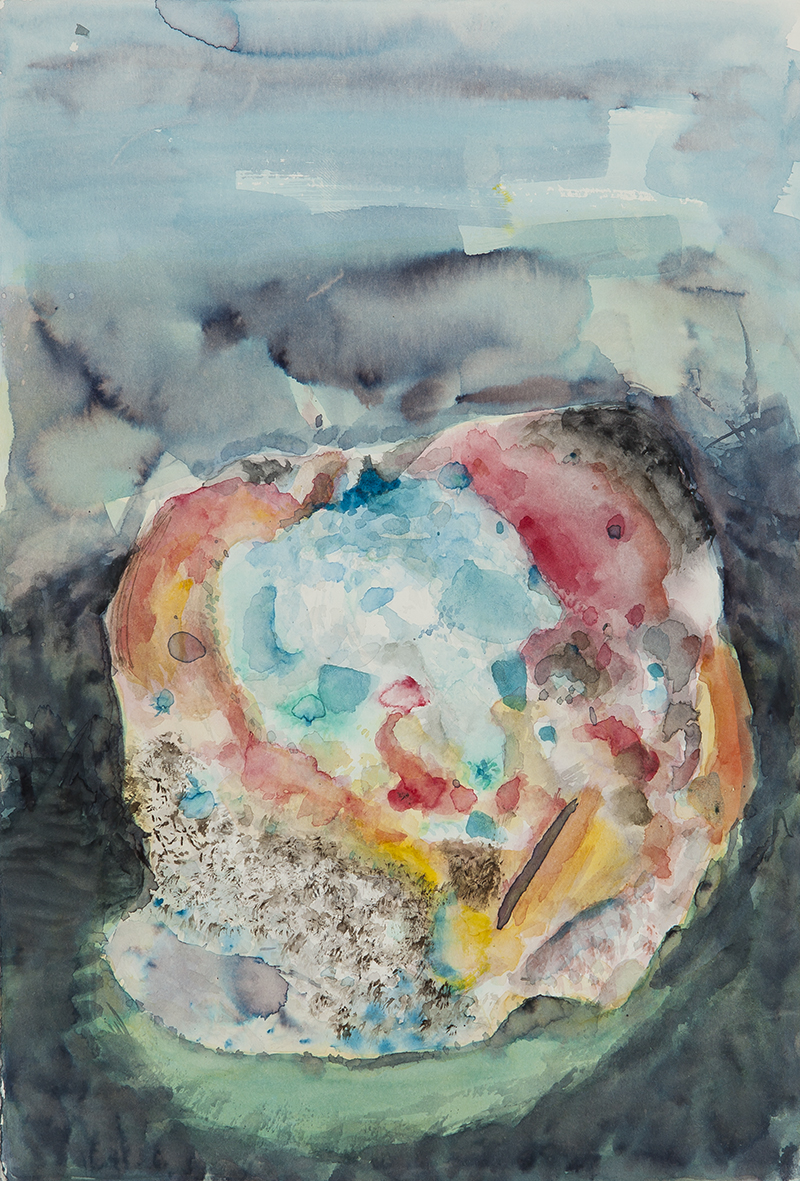 mould study (apple), 2017 | watercolours on paper, 25x18 cm
