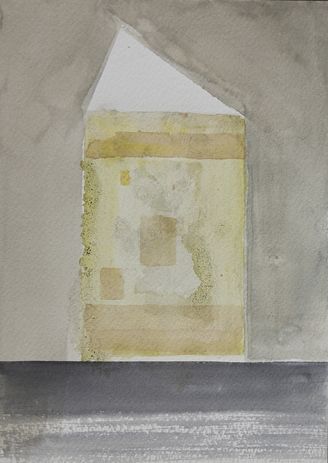 light proyection, 2016 | coffe and watercolours on paper, 25x18 cm