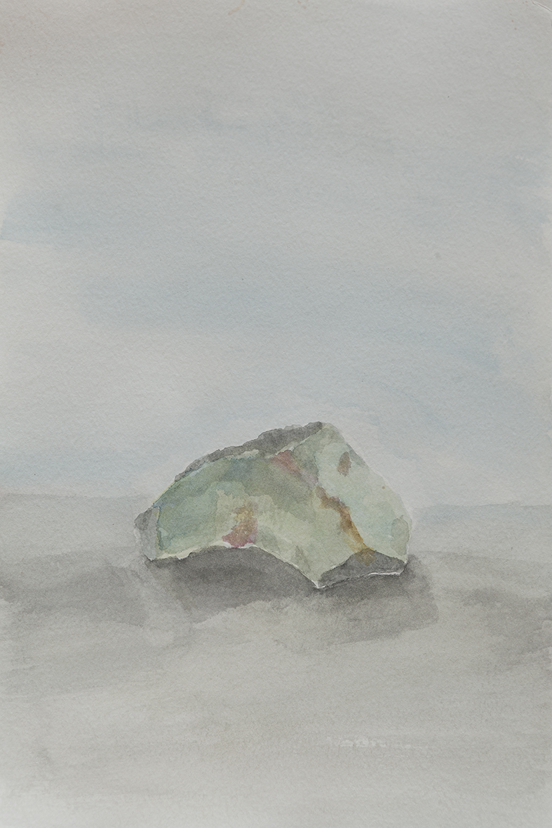 Stone, 2014 | watercolours on paper, 27x17,5 cm
