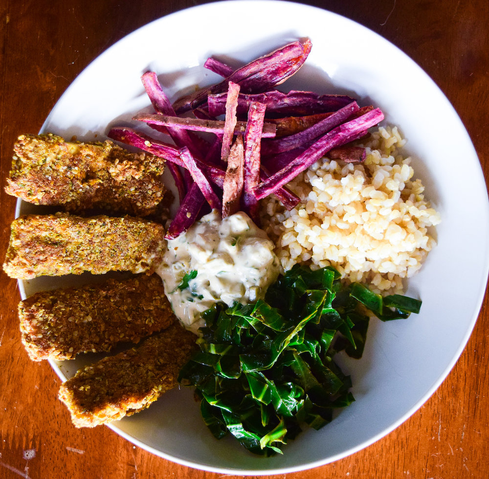 Blue Evolution seaweed vegan fish sticks bowl.jpg