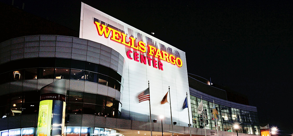 The Wells Fargo Center is home of the 76ers and the Flyers and was named for ICE collaborator and financier Wells Fargo.