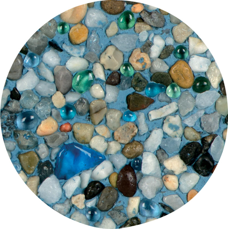 Teal Blend in Aqua Blue